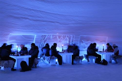 Restaurante hecho de hielo