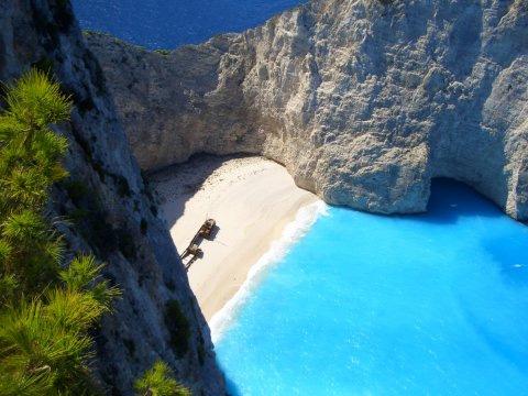 Playa en la isla de Zakynthos