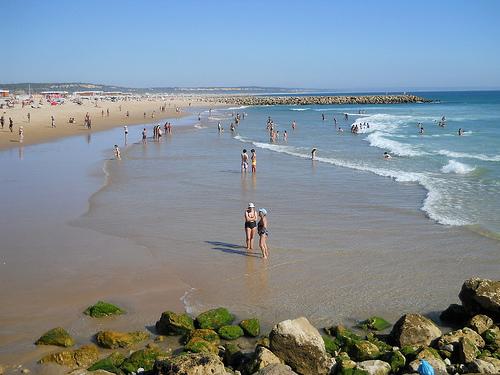 La playa m s larga de europa est en portugal mundo - Banarse con delfines portugal ...