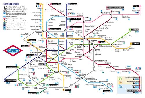 Lineas Mapa De Metro Madrid.Mundo Turistico Metro De Madrid