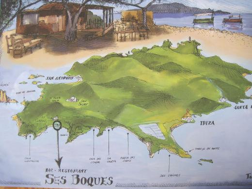 Qué hacer en Ibiza: Restaurante Ses Boques a pie de playa