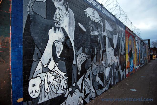 Mural de Belfast Guernica Picasso Irlanda del Norte