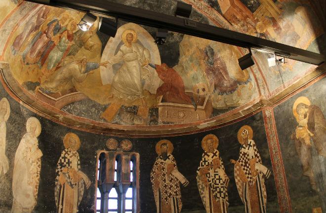 Mosaico en la iglesia/mezquita/museo San Salvador de Chora