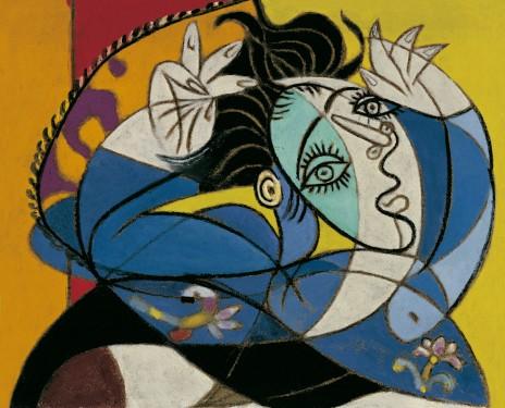 Mujer con los brazos levantados - Fuente: http://www.museopicassomalaga.org/